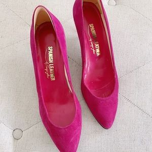 Spanish Leather by Sergio Zelcer Vintage Pink Heel